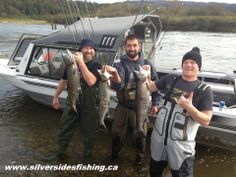 Good times with friends on the Fraser river for Chum salmon fishing charters! fall 2013. http://www.silversidesfishing.ca/index.cfm/page/fraser-river-salmon-fishing.html
