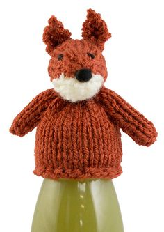 The Fox by Val Pierce. Free knitting pattern for the Innocent Big Knit to benefit Age Uk Knitting Paterns, Knit Patterns, Free Knitting, Knitting Projects, Cute Crochet, Crochet Toys, Knit Crochet, Knitted Animals, Knitted Hats