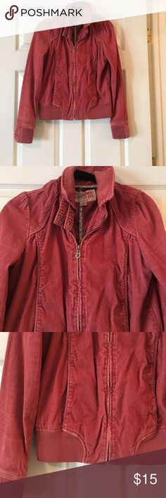 Adorable Corduroy Jacket! Corduroy Jacket with the cutest details! Color is a burnt orange/salmon. Great for Fall!! Jackets & Coats