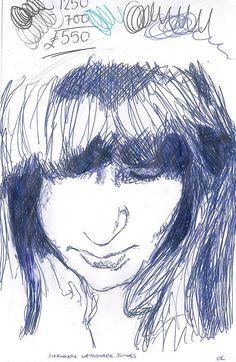 portrait in biro