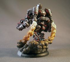 Hovering Cygnar Minuteman conversion with smoke trail