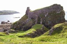 Dun Scaith Castle. Myth says a female warrior fought here. The castle is named after her.