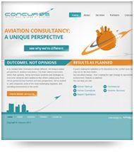 Concuros website design