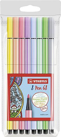 """STABILO """"Pastel"""" Premium Felt Tip Pen - Assorted Colours (Pack of 8)"""