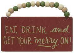 Dear Santa Beaded Ornaments  (3 Count Assortment)