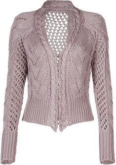 Clare Tough Rosewood Cable Short Cardigan