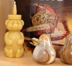 Honey Bear Shaped Beeswax Votive Candle by PowderPointCoastal