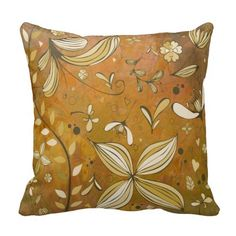 Autumn Vintage Decorative  Colors Throw Pillows