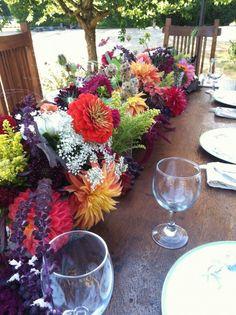 A Flying Bear Farm tabletop design ~ lovely! Flower Farmer, Table Top Design, Whidbey Island, Autumn Wedding, Tabletop, Flower Arrangements, Wedding Flowers, Wedding Photos, Entertaining