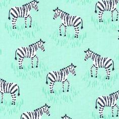 Michael Miller Fabric - Mini Zebras - Mint - Cotton zebra in Crafts, Sewing & Fabric, Fabric | eBay