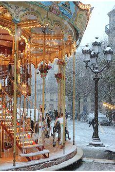 """this is a PHOTO ( place de l'Hotel de ville Paris ), Not """"Paris"""" -- Claude Monet. Have just seen the Monet exhibition in Melbourne - beautiful. Oh The Places You'll Go, Places To Travel, Travel Destinations, Winter Szenen, Paris Winter, Paris Snow, Winter Time, France Winter, Winter Magic"""