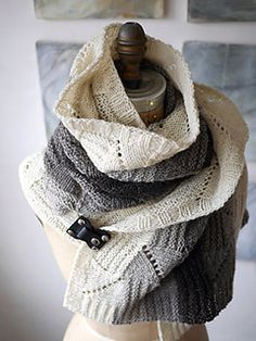 This super-cozy scarf or wrap is a treat to knit in a gradient of natural or hand-dyed shades and looks great in a solid color as well. Knit in one piece from side to side, the scarf begins with a long cast on, but knits up in a jiffy with just a few pattern repeats. An easy-to-knit mix of knit/purl texture and simple openwork stitches form a fabric that is universally appealing, which makes this project a good choice to knit now and gift later. This squishy, delicious scarf is an enjoyable…