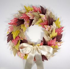 DIY Paper Leaf Wreath Tutorial