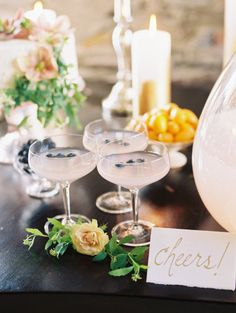 champagne cocktails | Photography by trentbailey.com |  Coordination + Styling by firefly­events.com |  Floral Design by poppiesandposies.com |   Read more - http://www.stylemepretty.com/2013/07/08/salvato-mill-photo-shoot-from-trent-bailey-photography-firefly-events/