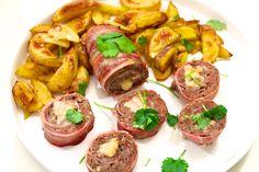 Hämmentäjä: Meat sushi and bacon potatoes for real men and women. Lihasushi ja pekoniperunat tosimiehelle ja -naiselle.