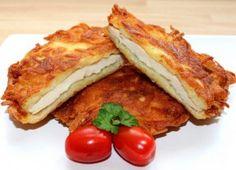 Skvelá inšpirácia na nedeľný obed. Kurací rezeň v zemiakovom kabátiku. - Báječná vareška Fish Recipes, Cake Recipes, Backyard Patio Designs, Hungarian Recipes, Meatloaf, Valspar, French Toast, Sandwiches, Goodies