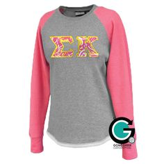 CUSTOM Stitched Letter Hi-Lo Sweatshirt -- Perfect for Fall! by GoneGreek on Etsy