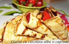 Clatte cu ciocolata alba Ethnic Recipes, Foods, Food Food, Food Items