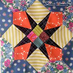 I have been working on my Delilah Four Patch Star by Jen Kingwell. The fabrics I received in the mail were bold and beautiful:) I decided to experiment with color this month. Al…