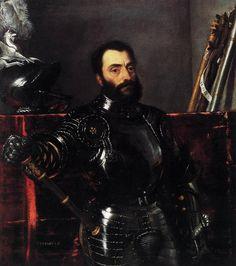 Retrato de Francesco Maria della Rovere, duque de Urbino, óleo sobre tela por Tiziano Vecellio (Titian) (1489-1576, Italy)