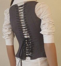 DIY Tutorial: DIY Clothes DIY Refashion / DIY Corset for the Business Professional - Bead&Cord