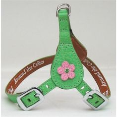 Choose leather and crystal colors... add matching leash and matching poop bag holder!