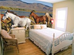 Horse Bedding | ... Cowgirl Bedding Flower Ponies Bedding Vintage Blooms  Horse Bedding I Think This Is Too Bright But The Idea Is Good.