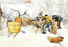 The Slaughter - (Carl Larsson)