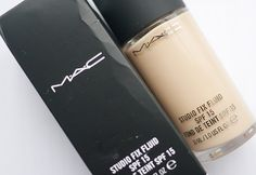 MAC Studio Fix Fluid foundation. The holy grail of foundations. Better than anything I've ever tried! Medium-Full build able coverage, matte finish, and best of all NO flashback! Photographs beautifully.