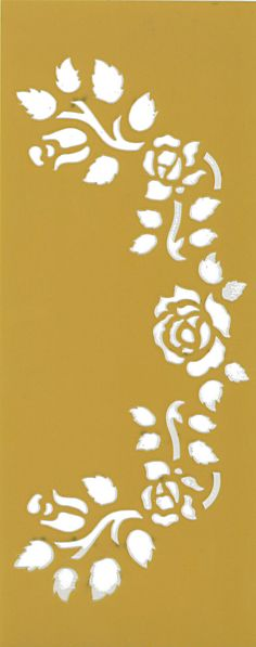 Stencil flexible template, flower series, roses