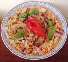 Zöldséges karfiolrizses csirkesaláta (paleo recept) ~ Éhezésmentes Karcsúság Szafival