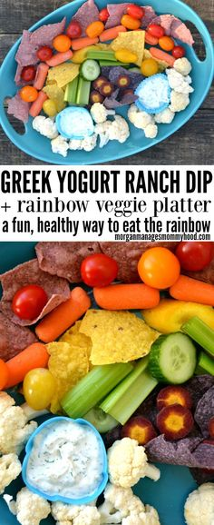 This healthy veggie dip recipe delicious and a kid friendly veggie dip. Add veggies of all colors to make a fun and interesting rainbow veggie platter. Dip Recipes, Appetizer Recipes, Snack Recipes, Healthy Recipes, Delicious Recipes, Vegetarian Recipes, Veggie Platters, Veggie Dips, Dips Food