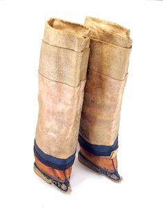 Foot binding became popular in the 12th century as a means of displaying status. Much like a tiny waist in Victorian England, a small foot represented the height of female refinement in China and girls' feet were painfully bound to prevent growth. These boots (c. 1885), at about 4 inches in length, were considered to be at the larger end of the desired scale. Despite leaving women with lifelong disabilities, the practice only began to die out in the early 20th century #100Objects…