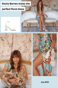 Florals are perfect for any type of summer wedding. Rocky Barnes walks us through how she styles a beautiful maxi dress with a white high heel sandal for this upcoming wedding season.