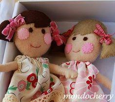 rosy cheeked wool felt dolls