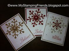 My Stamping Friends: Stampin' Up! Holiday cards and Christmas Projects for 2012