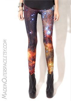 Galaxy Stars Universe Leggings. Leggings :are tight, form-fitting trousers that extend from the waist to the ankles; in the United States, they are sometimes referred to as tights (although the word tights is often used to refer to opaque pantyhose).    (WONG HUI LI FD1A1)