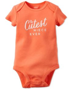 Carter's Baby Girls' Short-Sleeve Cutest Niece Bodysuit