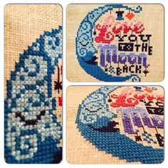 Finish #1 for 2015 Romantic Moonlight by Emma Congdon.  Cross Stitch Collection Magazine (Feb 2015)