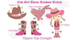 Cow Girl Theme Kitty Party Tambola Game