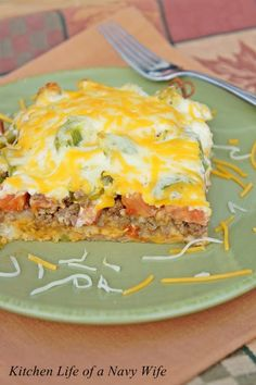 John Wayne Casserole-this was delicious. I used canned biscuits and next time will add corn. Also, I may add crushed tortilla chips to the top.