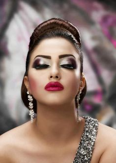 love the makeup styles and depth Asian Bridal Makeup, Bridal Hair And Makeup, Hair Makeup, Makeup Art, High Fashion Makeup, Sexy Makeup, Crazy Makeup, Dance Makeup, Kiss Makeup