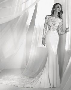 Featured Wedding Dress: Pronovias; www.pronovias.com; Wedding dress idea.