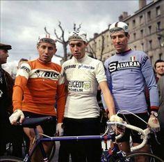 Jacques Anquetil, Eddie Merckx et Felice Gimondi