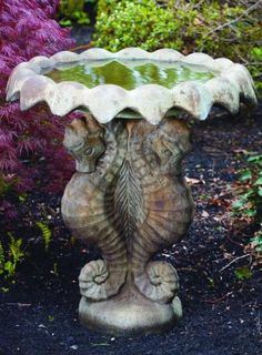 Seahorse Bird Bath For Sale Google Search Horses
