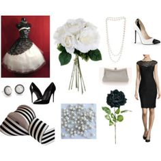 Black and White Classy Wedding with products from Afloral.com for the DIY bride. #diywedding