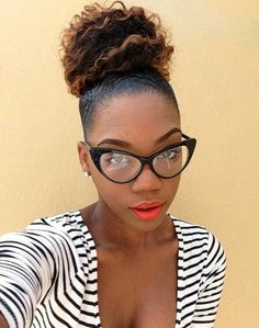 Style Bun With Afro