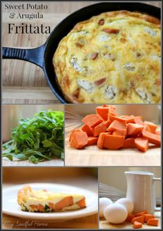 Frittata with sweet potato & arugula recipe works for all three meals! bHome.us