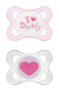 MAM I Love Daddy Collection Pacifiers pack, 1 Sterilizing Pacifier Case), MAM Pacifier Months, Baby Girl Pacifier, Best Pacifier for Breastfed Babies Mam Pacifier, Baby Binky, Baby Toys, Baby Pacifiers, Diaper Bag, Orthodontic Pacifier, I Love Mommy, Mommys Girl, Little Valentine