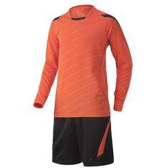 Long Sleeve Soccer Jersey Set (Orange and Black)